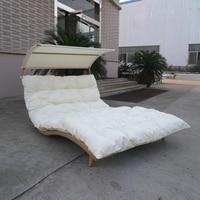 Rattan Daybed Chaise Lounge Set, il trasporto via mare in resina Wicker Patio Furniture