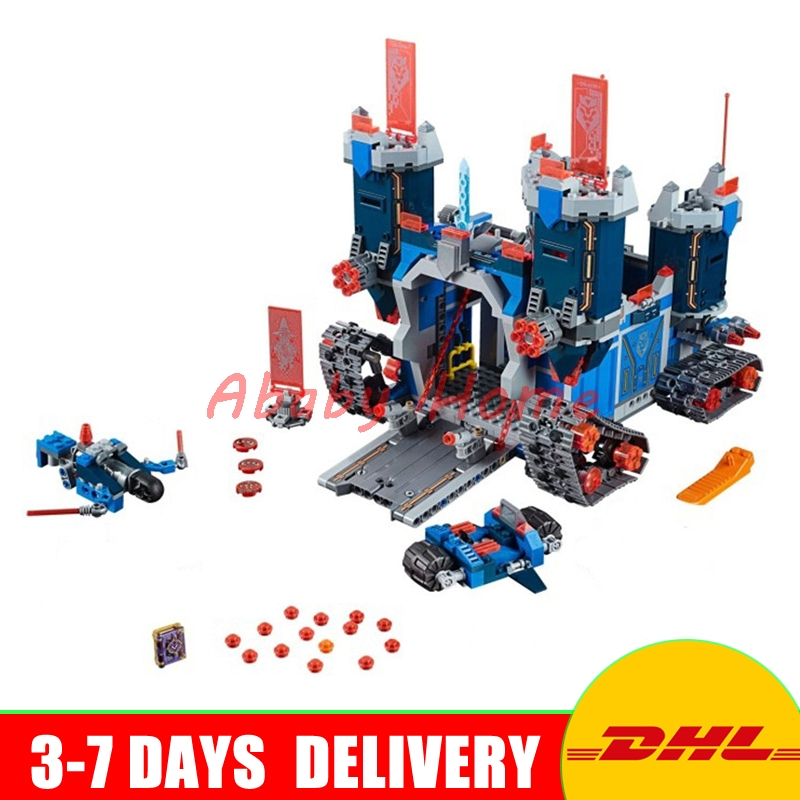 DHL Bela 10490 Nexus Knights The Fortrex Castle Educational Building Blocks Bricks Model Toys Gifts compatible 70317 2017 new nexus knights building blocks set the three brothers kids gift bricks toys compatible with legoinglys 14028 70350