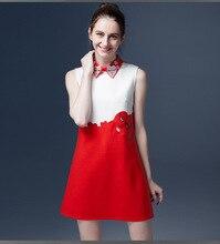 Мода мать дочь платья 2016 новая семья одежда соответствующие наряды мама и девочка одежда вышивка девочка платье