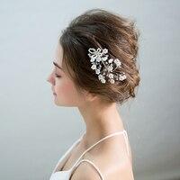 Handmade Simulated Pearl Hair Combs Princess Bridal Wedding Headdress Ornaments Hair Accessories Women Headpieces Comb Jewelry