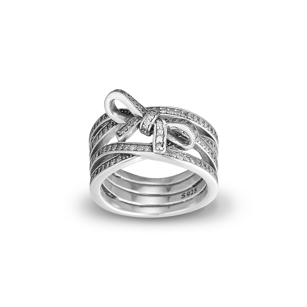 CKK Rings 925 Sterling Silver Delicate Sentiments Ring with Clear CZ Fashion Rings for Women anillos mujer bague femme in Rings from Jewelry Accessories