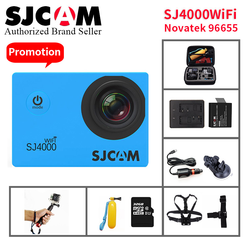 Original SJCAM SJ4000 Wifi caméra d'action 1080 P HD 2.0 LCD plongée 30 M étanche mini caméscope SJ 4000 caméra Sport DV vidéo camara