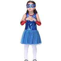 Disfraz de Halloween para Los Niños Vestido de La Muchacha de la Historieta Del Capitán América Gafas Fiesta de Carnaval Cosplay Disfraces Vestido Encantador De Alta Calidad