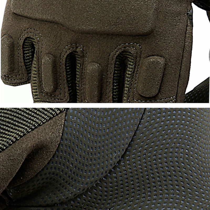 Tactical Gloves Army Soldier Combat Paintball Gloves Military Outdoor Gear Sport Slip-resistant Men Half Finger Hunting Gloves