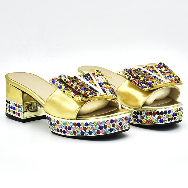 Dames Or Et Italiennes Parti Nigérien Décoré jaune Avec Or Sac Femmes Ensembles Chaussure Ensemble Chaussures De rouge Strass En Italie xxwYr