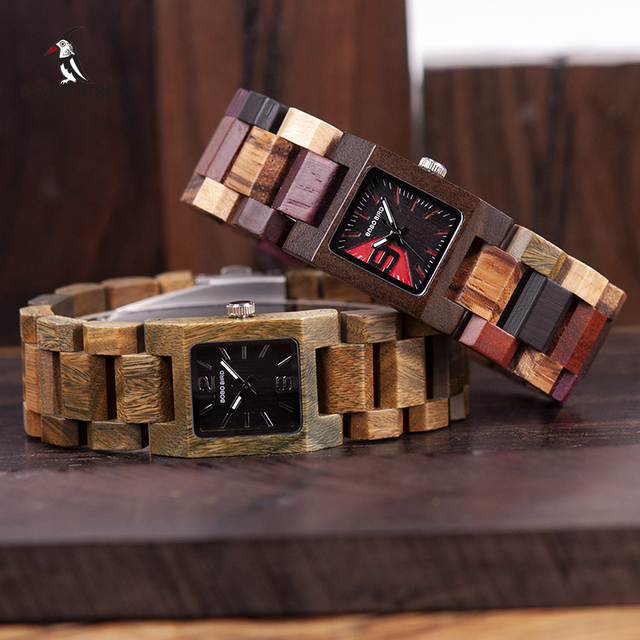 25mm BOBO BIRD Small Women Watches Wooden Quartz Watch Timepieces Best Girlfriend Gifts Relogio Feminino in wood Box W-S02 1