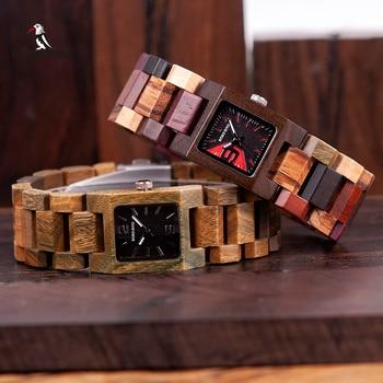 BOBO BIRD 25mm Small Women Watches Wooden Quartz Wrist Watch Timepieces Best Girlfriend Gifts Relogio Feminino in wood Box Women Creative Watches