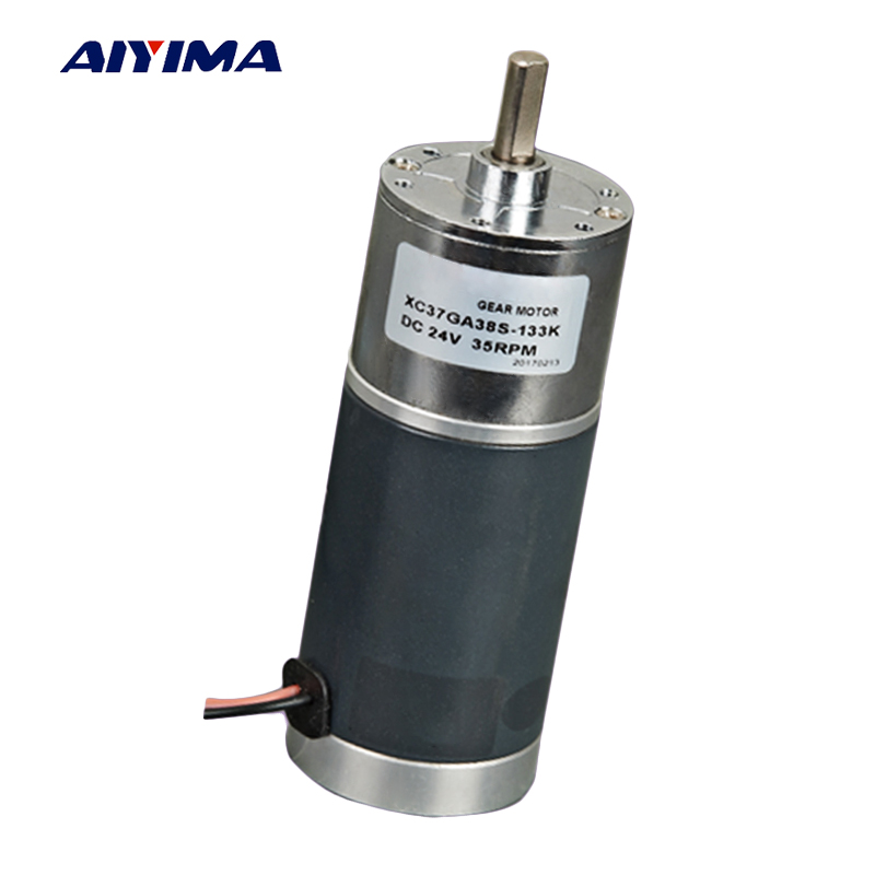 Aiyima Micro DC Geared Motor DC12V High Toque Positive Reversal Low Speed Steel Tube DC Motors Speed Reduction Gear Motor