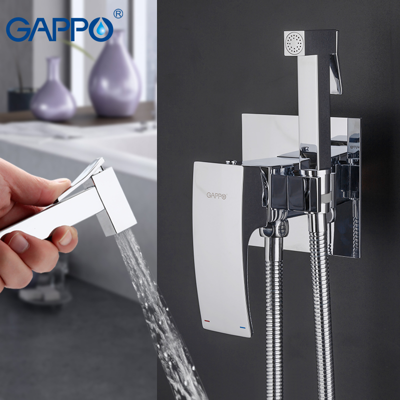 GAPPO Bidets brass toilet spray faucet chrome plating faucet bidet bathroom bidet shower toilet water spray