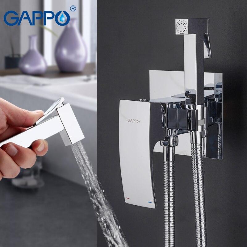 GAPPO Bidets en laiton toilettes pulvérisation robinet chrome placage robinet bidet salle de bains bidet douche wc douches de bain de pulvérisation d'eau