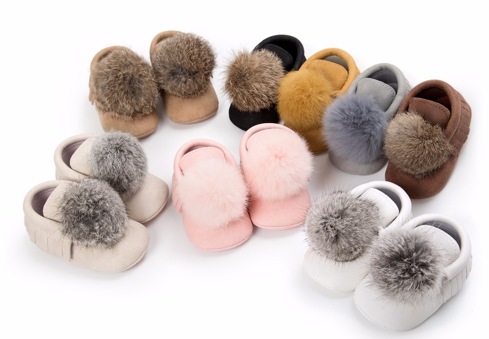 8 Colors New Fashion Suede Pu Leather Ball Style Baby Moccasins Shoes Soft Sole First Walker Baby Boys Girs Shoes