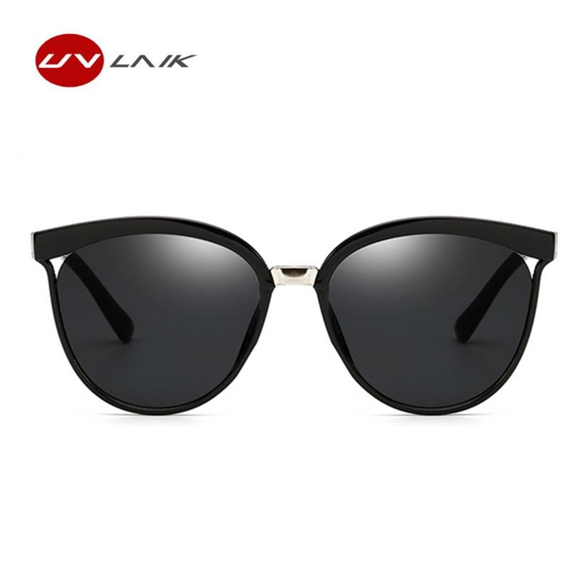UVLAIK Vintage Cat Eye Sunglasses Women High Quality Brand Designer Fashion Sun glasses for Men Retro Mirror Eyewear UV400