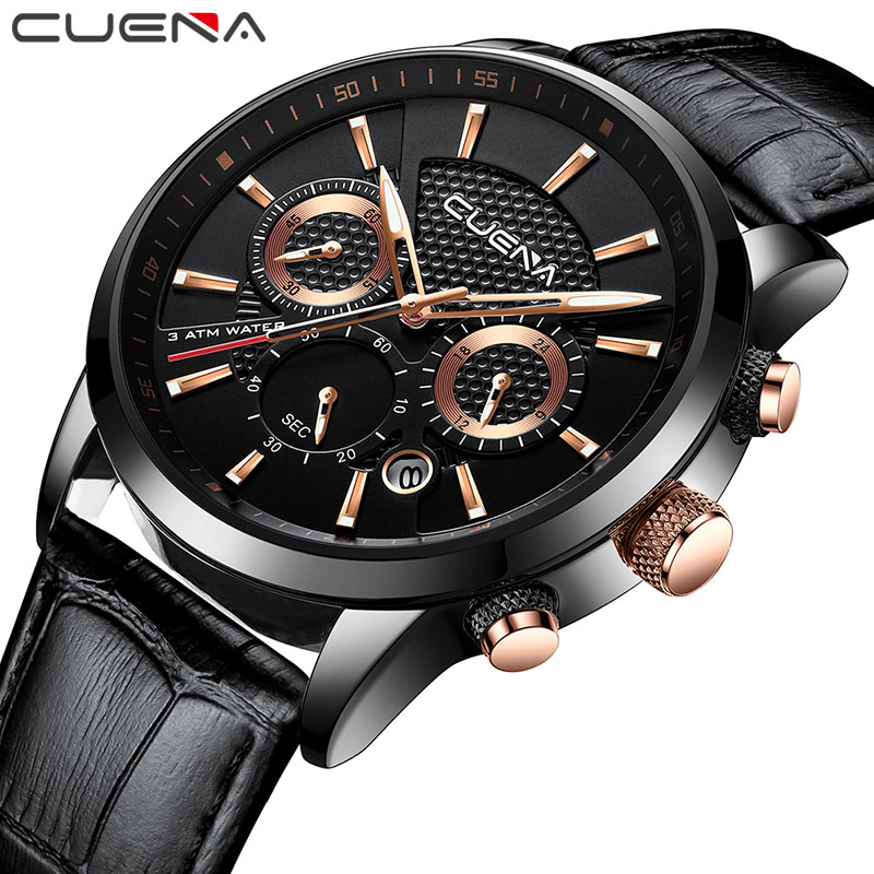 2018 New Men Watches Fashion Leather Business Quartz Watch Men's Sports 24 Hour Date Chronograph Wristwatches Relogio Masculino mike davis knight s microsoft business intelligence 24 hour trainer