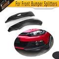 Carbon fiber side apron auto car front bumper splitters Fits for VW Scirocco