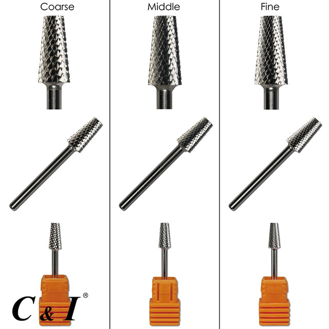 Tapered Barrel Nail Drill Bit Carbide For Electric Art Manicure Machine