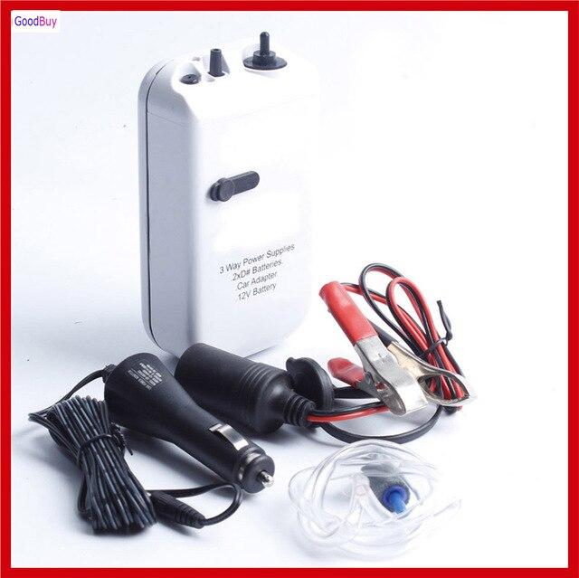 040a97a779e New Portable Battery+ Car Cigarette Lighter + Crocodile Clip Fishing Air  Pump Outdoor Aquarium Fish Oxygen