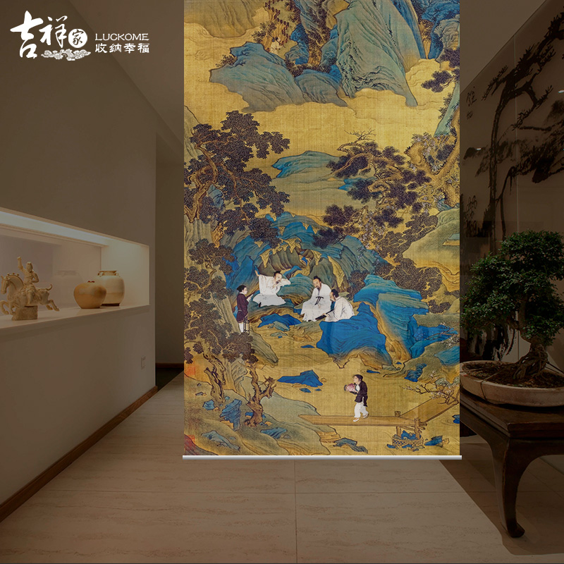 Chinese Hand Painting Room Divider Room Decorative Transparent