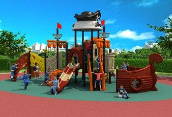 напольное игровое оборудование | Стандартная экспортная открытая пластиковая площадка оборудование парк слайд Пираты корабль играть Structrue YLW-OUT171075