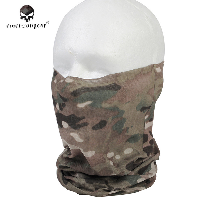 Emerson Fast Dry Multi functional Hood Mask Camouflage Veil Mesh Scarves Airsoft Tactical Hunting Scarf Men