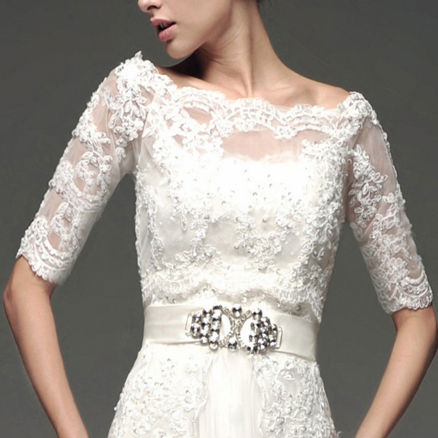 real picture short sleeves alencon lace applique beading bridal jacket bolero for formal dresses. Black Bedroom Furniture Sets. Home Design Ideas