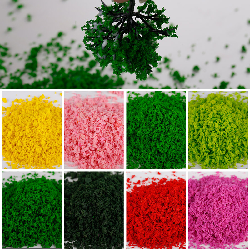 30g 1pcs New Hot Foliage Model Scenic Material For Mini Tree Bush Hedge DIY Railway Railroad Miniature Wargame Diorama Accessory