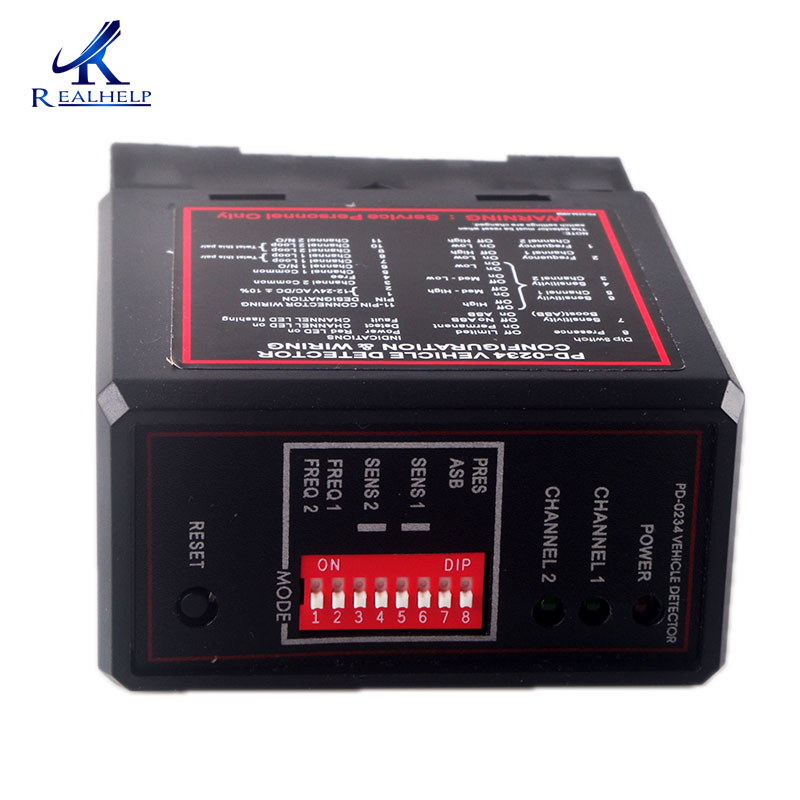 12V AC Dual Relay Vehicle Detector Driveway Safety Loop 11-Pin Socket Base Gate Loop Detector