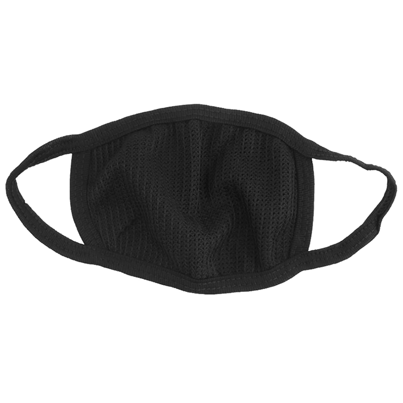 Black Mens Womens Cycling Anti-Dust Cotton Mouth Face Mask Respirator