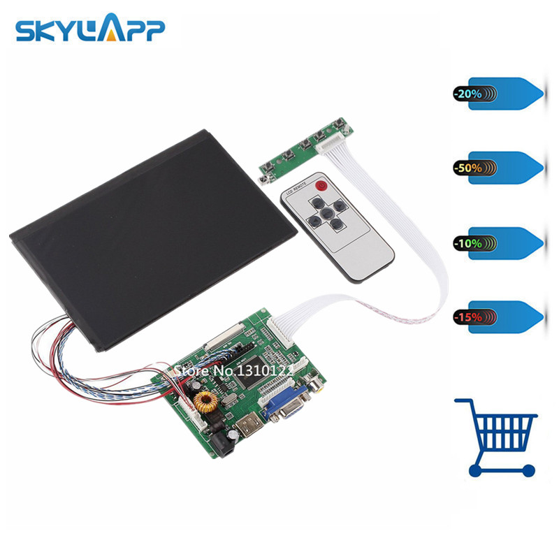 Skylarpu 7 Inches High Resolution 1280*800 IPS Screen With Remote Driver Control Board 2AV HDMI VGA for Raspberry Pi rombica mysound bh 03 2c blue наушники