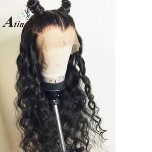 Image 2 - מים גל 13X6 תחרה מול שיער טבעי פאות לנשים שחורות מזויף קרקפת עמוק 360 תחרה פרונטאלית פאה רמי סגירת HD שקוף תחרה