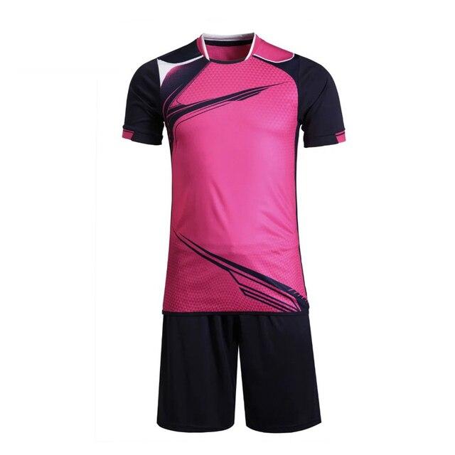 0ba138bf8ff11 Equipo hombres y mujeres uniformes de futbol entrenamiento Jerséis camisas  2017 ropa deportiva transpirable Correr Kit