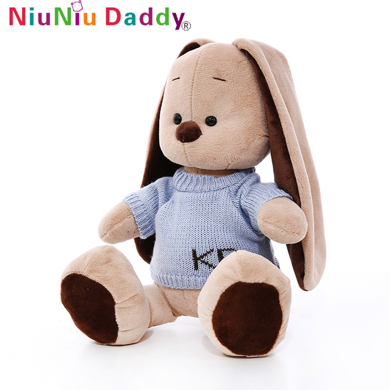 Niuniu Daddy Cute Big Long Ears Rabbit Plush Animals Toys Stuffed Bunny Rabbit Soft Toys Baby Kids Sleep Toys Birthday Gifts hot sale cute dolls 60cm oblong animals pillow panda stuffed nanoparticle elephant plush toys rabbit cushion birthday gift