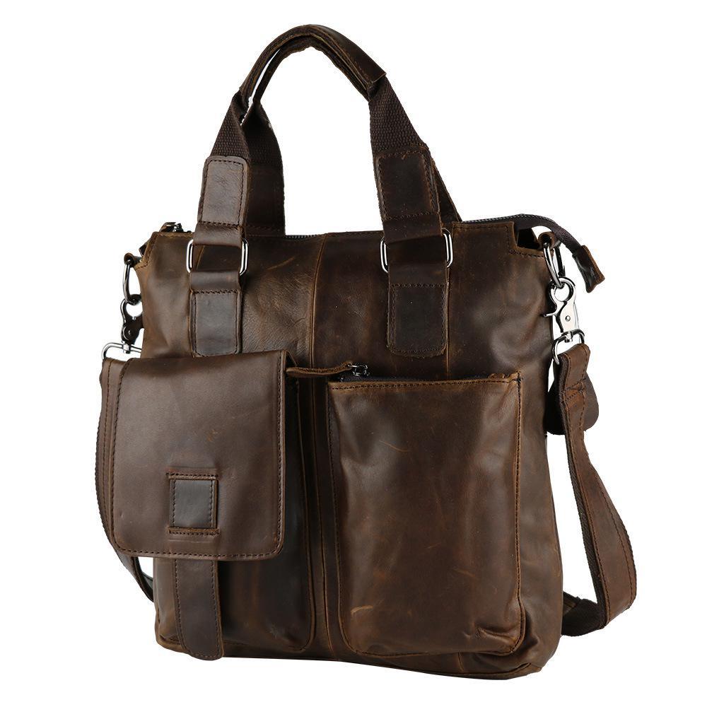 Vintage Real Genuine Leather Small font b Men b font Messenger font b Bags b font