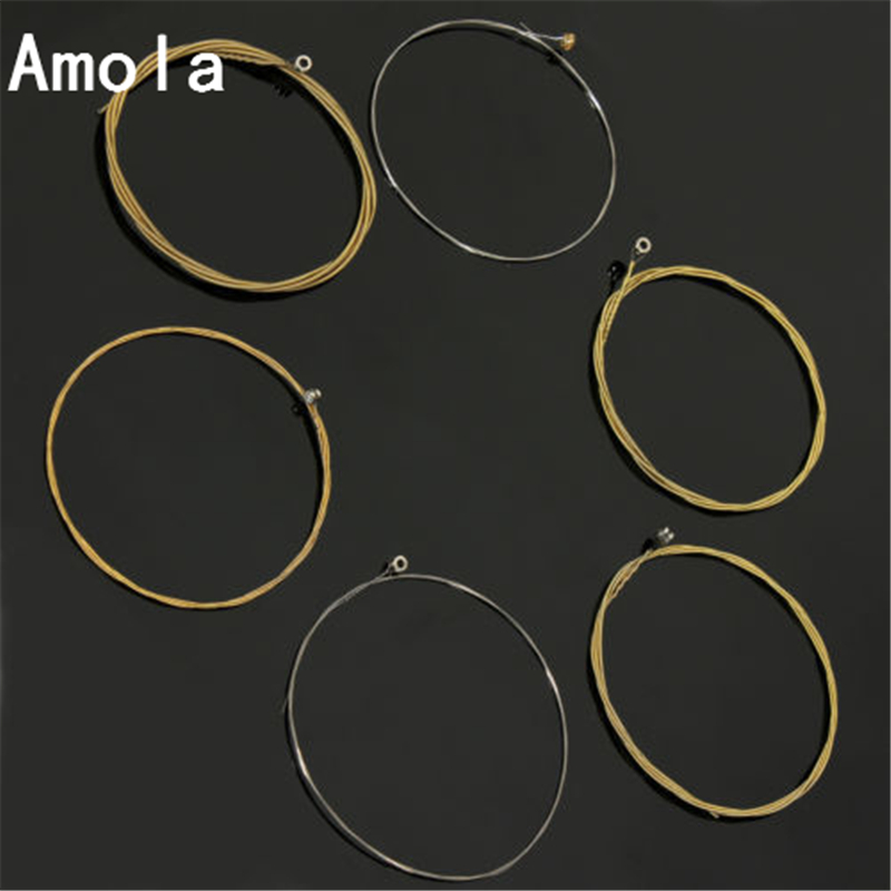 Acoustic Guitar Strings set 010 A60xl Musical Instruments Accessories Metal Acoustic Wound Guitar Steel Strings Accessories amola acoustic guitar strings set 010 012 011 pure copper steel 010 047 acoustic wound guitar 1 6th string musical instruments