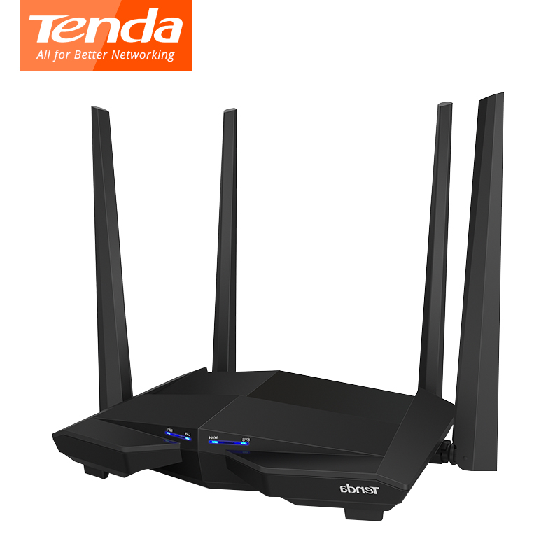 Tenda AC10 1200Mbps wireless wifi router Dual band 2.4G/5G 1WAN +3 LAN Gigabit port ...