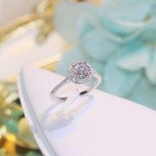 TSHOU43 корейской версии 2 карат полное звезд белого золота микро инкрустированные Цирконом кольцо, ожерелье, серьги комплект