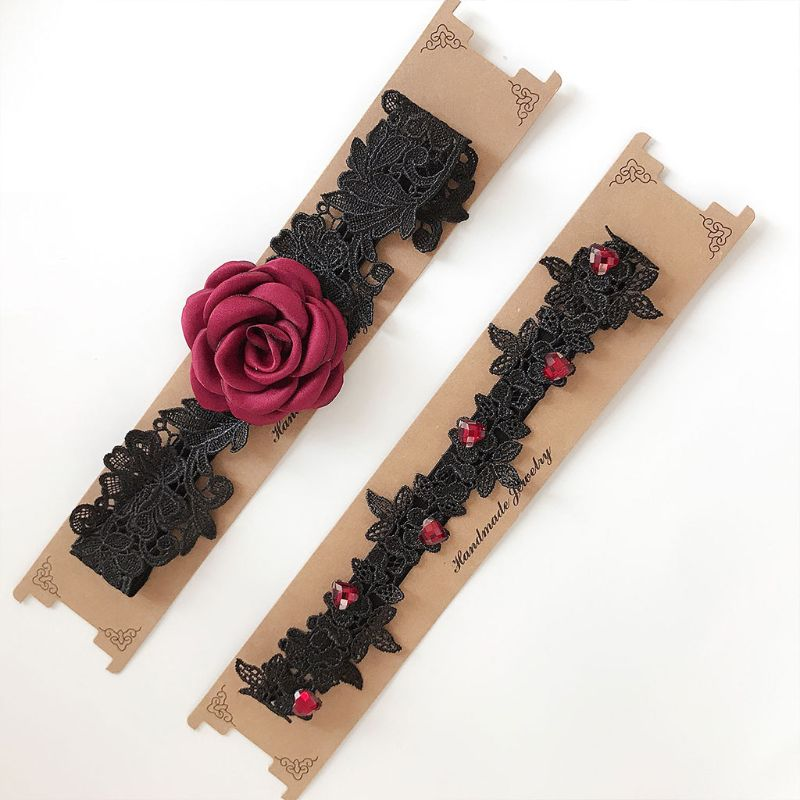 2 шт. для женщин невесты бедра кольца ткань цветок кружево Enbellishment свадебное платье ноги подвязки Эластичные подтяжки