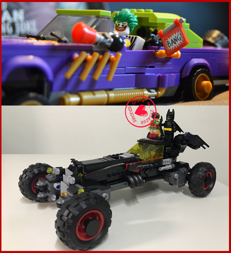 New 07045 07046 Superhero joker batman batmobile The Robbin`s Mobile Set model Building kit Blocks Bricks boy kid Toys 70905