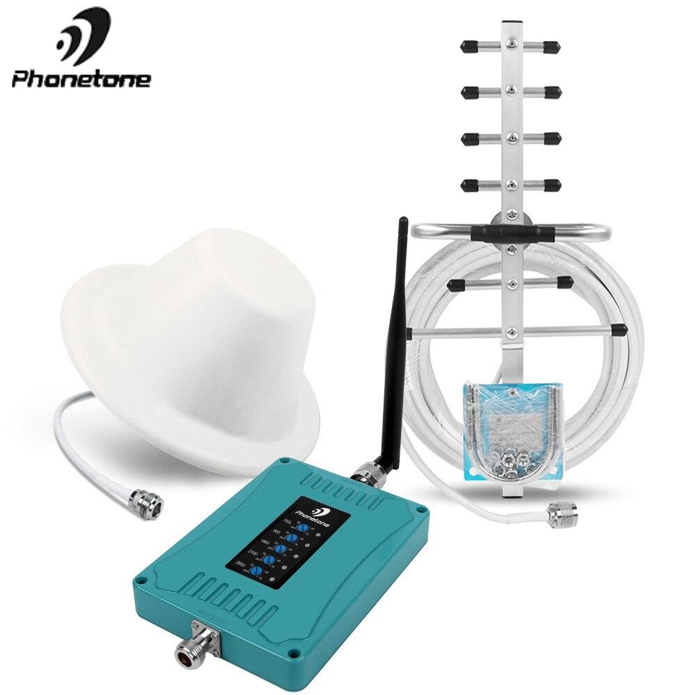 Nouveau répéteur 2G 3G 4G 700/900/1800/2100/2600 MHz 70dB amplificateur de Signal cellulaire Mini taille amplificateur Mobile ensemble pour bande 28/8/3/1/7