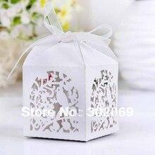 Laser cut favor box, Love Brids gift box New fashion box Fashion Laser Cut Boxes 100pcs
