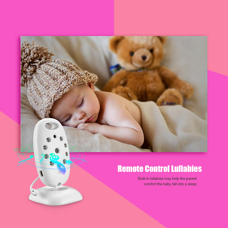 Wireless Color LCD Video Wireless Security Baby Monitor 2 Way Talk Night Vision IR LED Baby Camera Temperature Monitoring