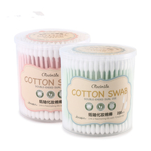 200Pcs Makeup Cotton Swab Women Beauty Cotton Buds Double head Make Up Wood Stic