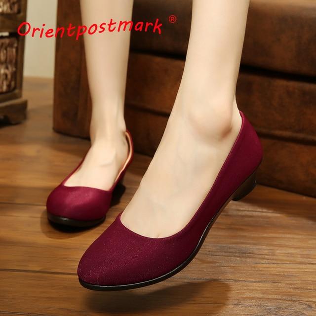 78617a49cdae5 OrientPostMark Women Ballet Flats Shoes Women Shoes Office Cloth Sweet  Loafers Women's Flats Ballet Pregnant Flats Shoes Boat