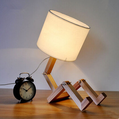 Nordic wood led desk lamp rotatable personality modern - Lampe de table enfant ...