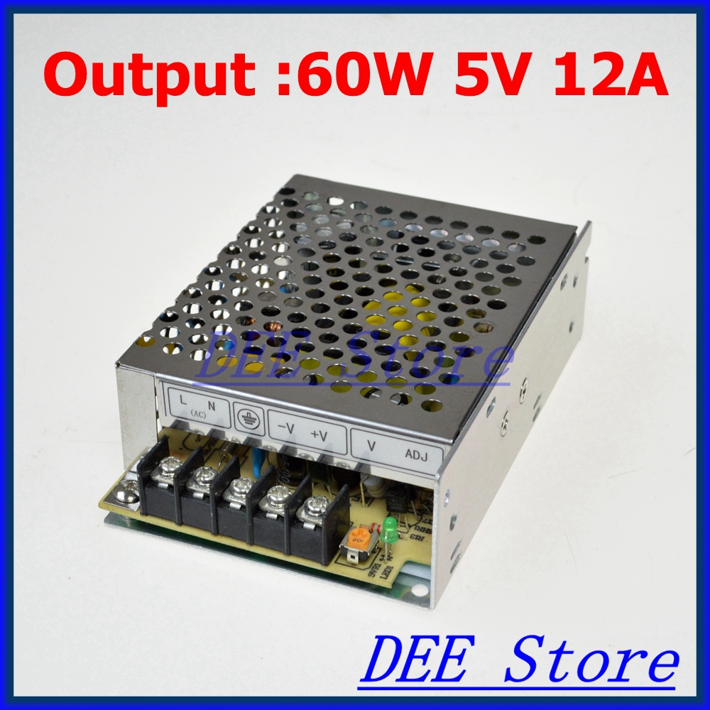 M-60-5 Led driver 60W 5V 12A Single Output  Adjustable Switching power supply  for LED Strip light  AC-DC Converter юбка brusnika brusnika br032ewwsq30