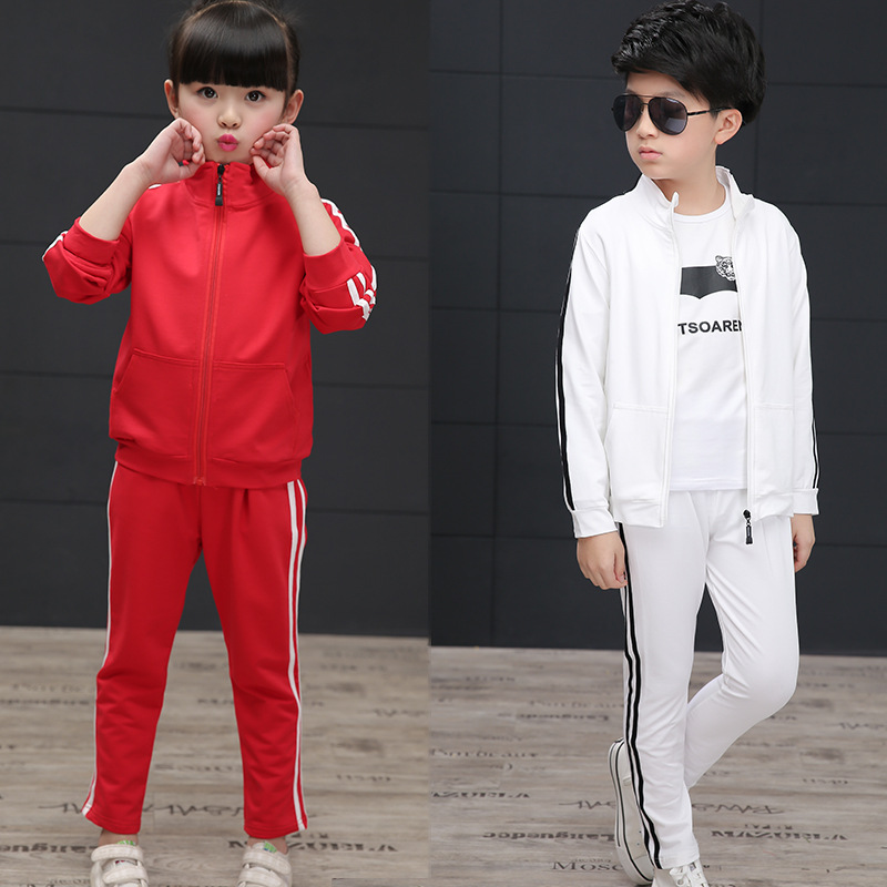 Children Clothing  2pcs Sets blue red Kids Clothes Girls Jacket Pants Suit Autumn Costume Tracksuits For boys Coats Sport Suit teenage girls clothes sets camouflage kids suit fashion costume boys clothing set tracksuits for girl 6 12 years coat pants