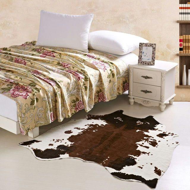 Braunem Rindsleder Teppich Zebra Teppich Kreative 150*140 Cm ...