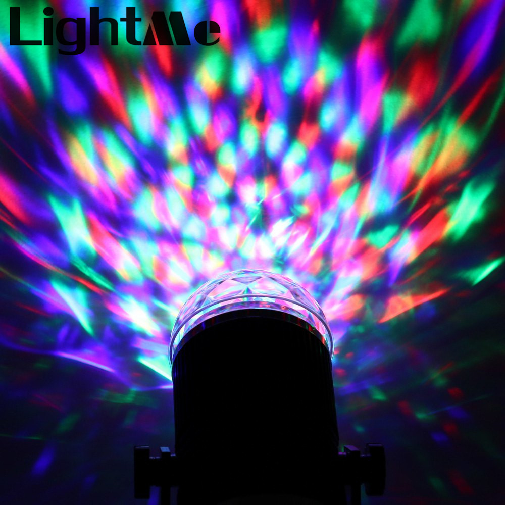 Industrial Light Sound Effect: Colorful Sound Activated LED Light Magic Ball Disco DJ