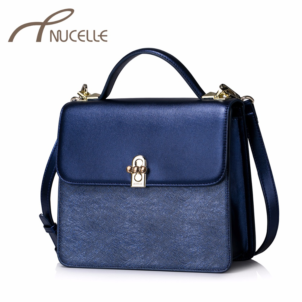 NUCELLE Women PU Leather Handbags Ladies Fashion Lock Messenger Tote Purse Female Flap All-match Crossbody Bags NZ5964