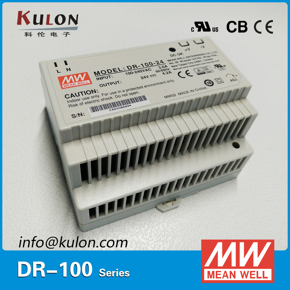 Genuine Meanwell DR-100-24 Single Output 100W 24V 4.2A Industrial DIN Rail Mean well power supply