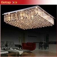 Лучшая цена Новое поступление k9 кристалл Люстры Светодиодное освещение Гостиная ресторан Кристалл потолочный светильник E14 indoor Освещение